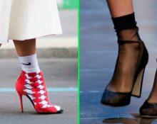 туфли и носки