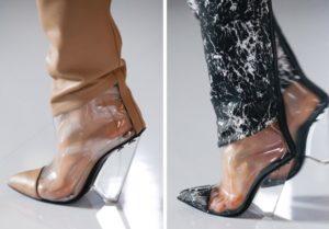 прозрачный каблук