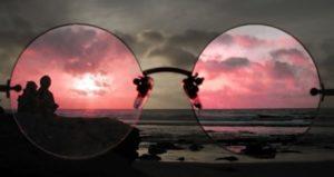 закат через очки