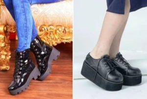 рок ботинки
