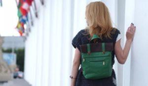 зеленый рюкзак