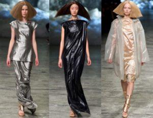 платья из пластика
