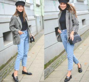 лоферы джинсы пиджак