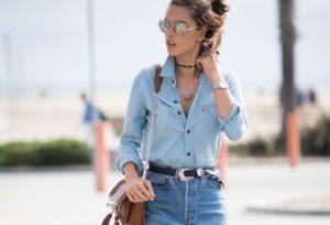 джинсовый тотал лук