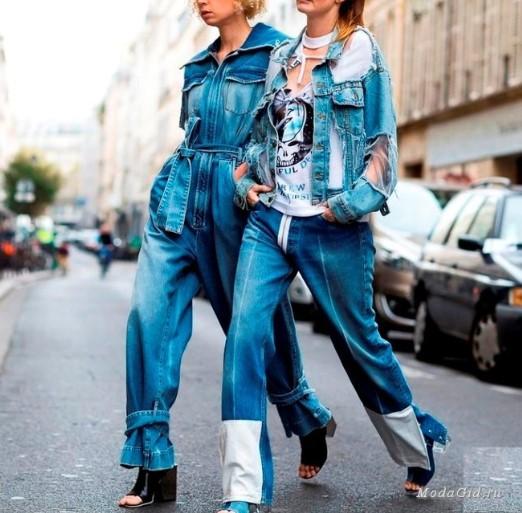 джинсовые комбинезоны