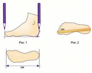 обмерить ногу