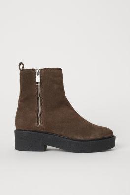 Женские ботинки из искусственной окожи популярного бренда