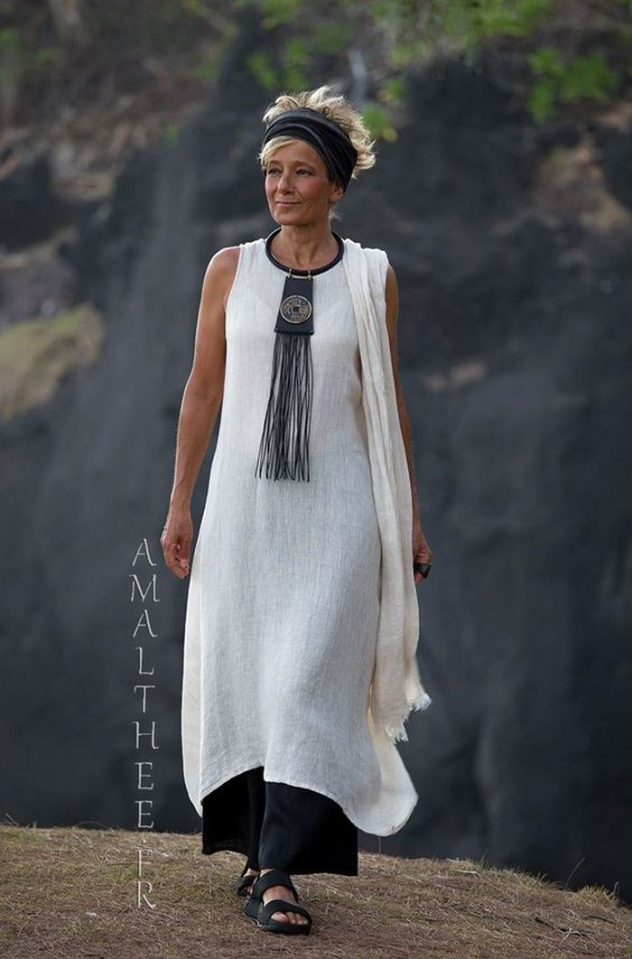 белое платье бохо лето