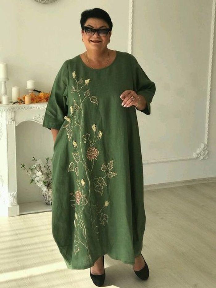 зеленое платье бохо