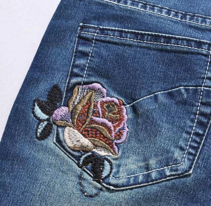 джинсы вышивка 2