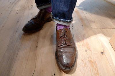 заломы на кожаной обуви
