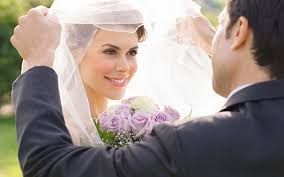 Закрытое лицо у невесты