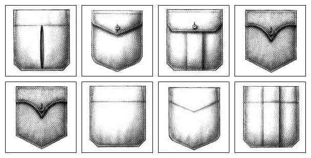 карман форма 1