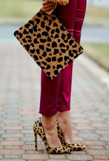 леопардовая обувь 1