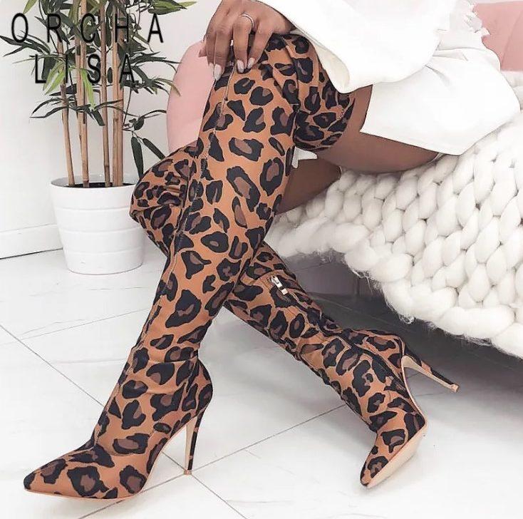 леопардовая обувь 13