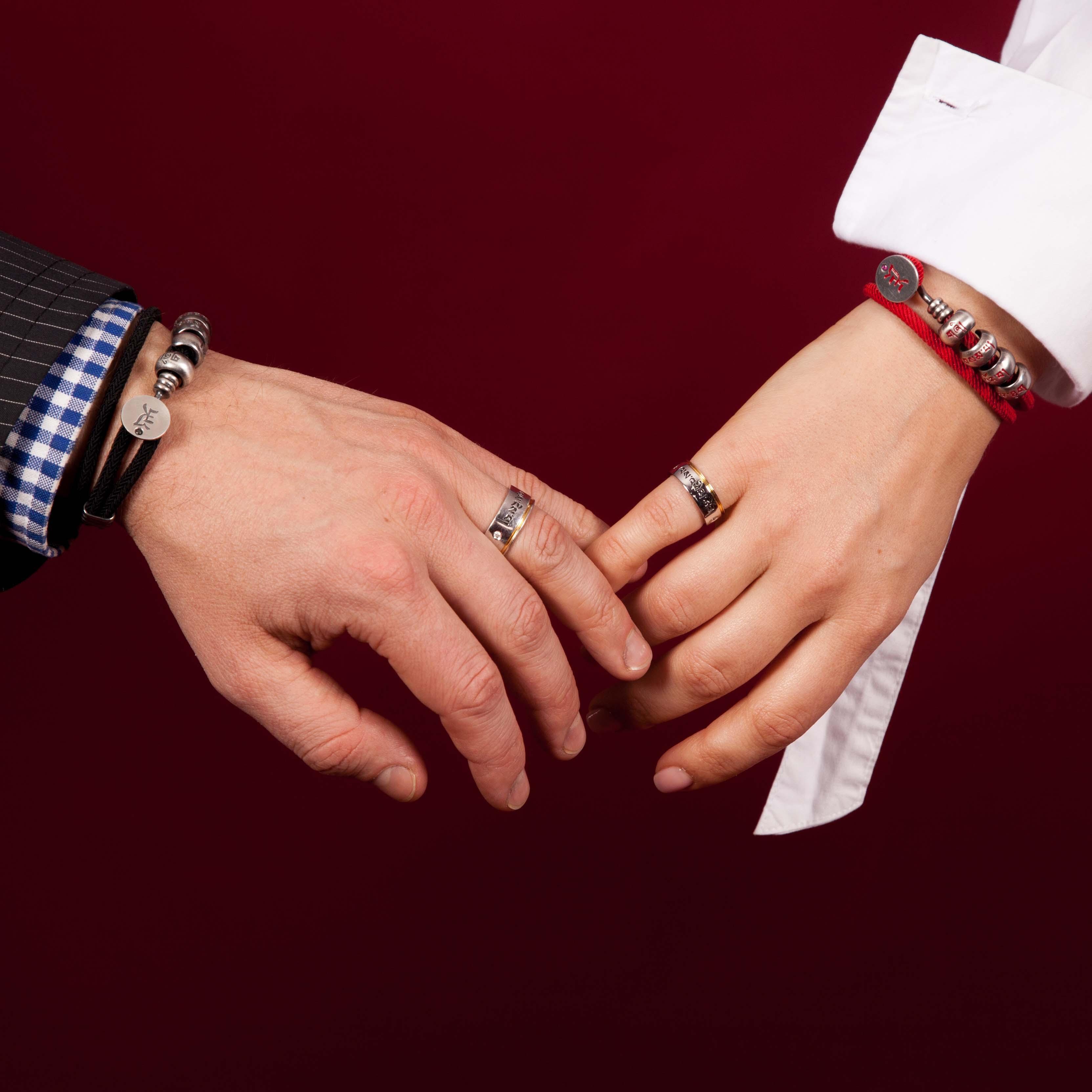 обручальные кольца на разных пальцах