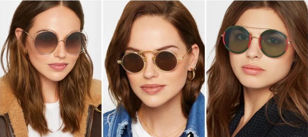 очки круглые и ромбовидное лицо