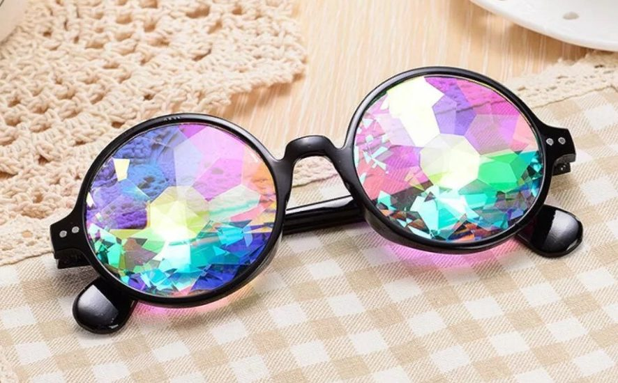 очки круглые калейдоскопы