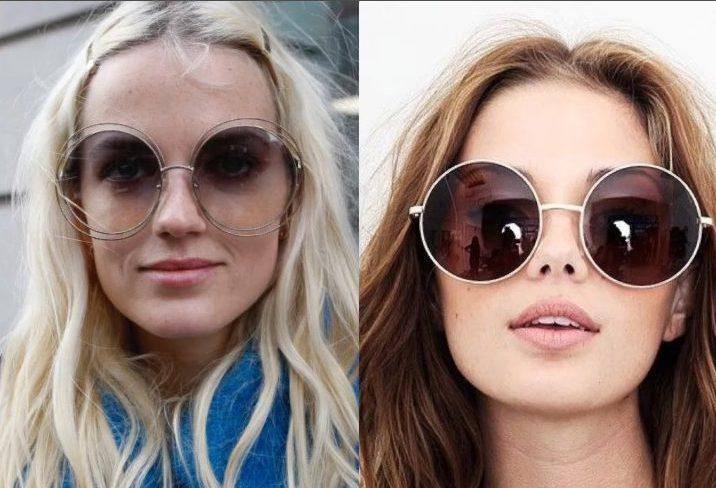 очки круглые на прямоугольном лице