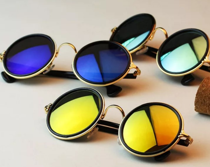 очки круглые зеркальные