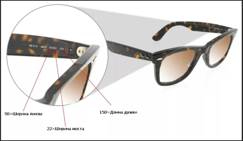 очки цифры на дужке