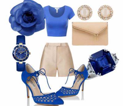 образ с синими туфлями