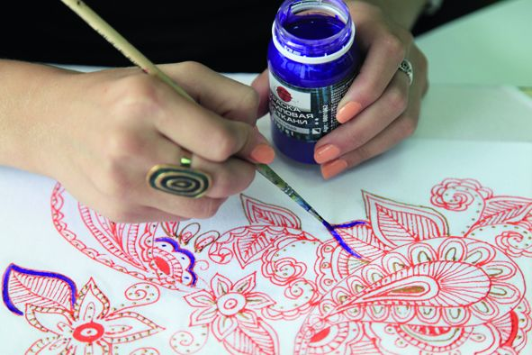 Как сделать рисунок на ткани: мастер-класс