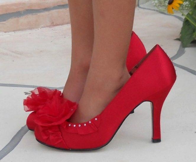 туфли красные на размер больше
