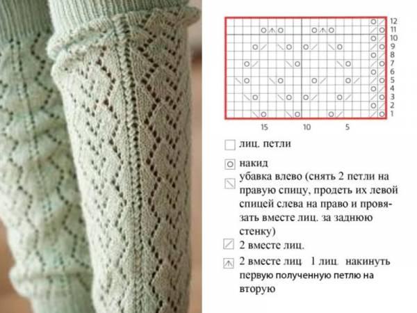 ромбики для тёплых носков
