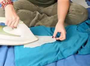 удаление следов воска с натуральной ткани