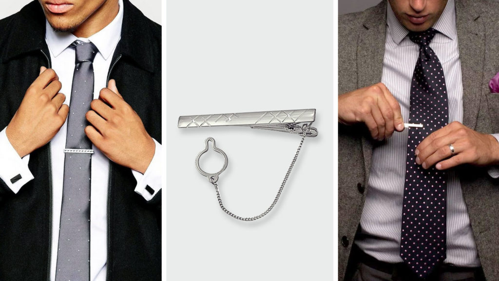 Цепочка на зажиме галстука