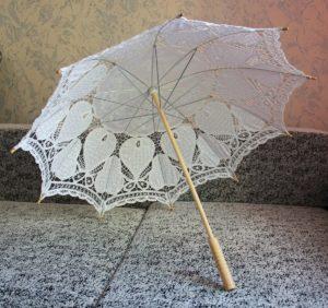 зонтик из тюля
