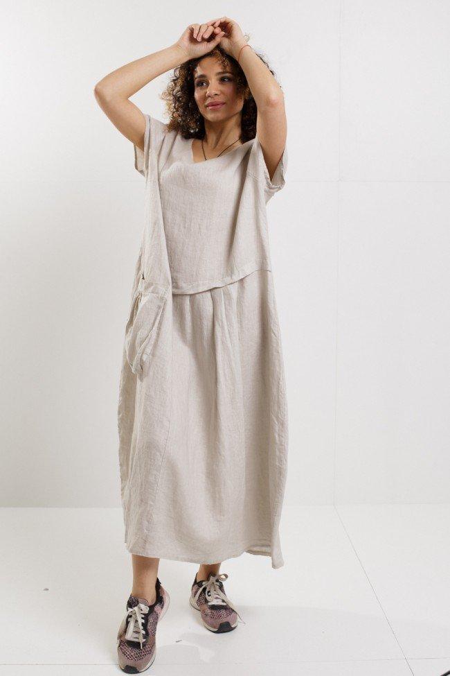Льняное платье колется — что делать