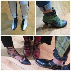 разные цвета обуви