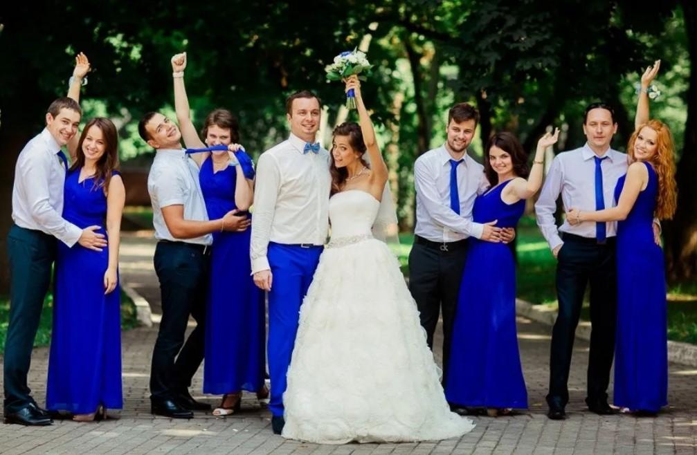 40 свадьба в синем