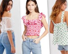 Французские модницы выбрали топы в сельском стиле