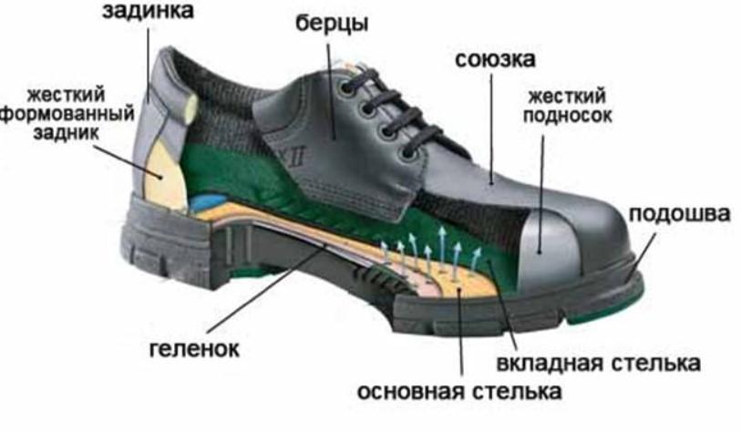 строение обуви