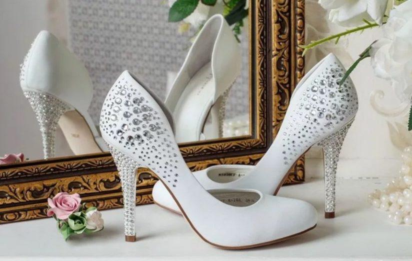 белая туфли 8