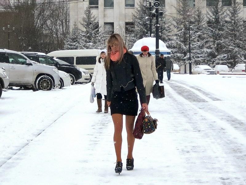 мини юбка зимой