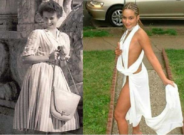 СССР и сейчас: сравнение нарядов выпускниц