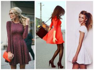в платье