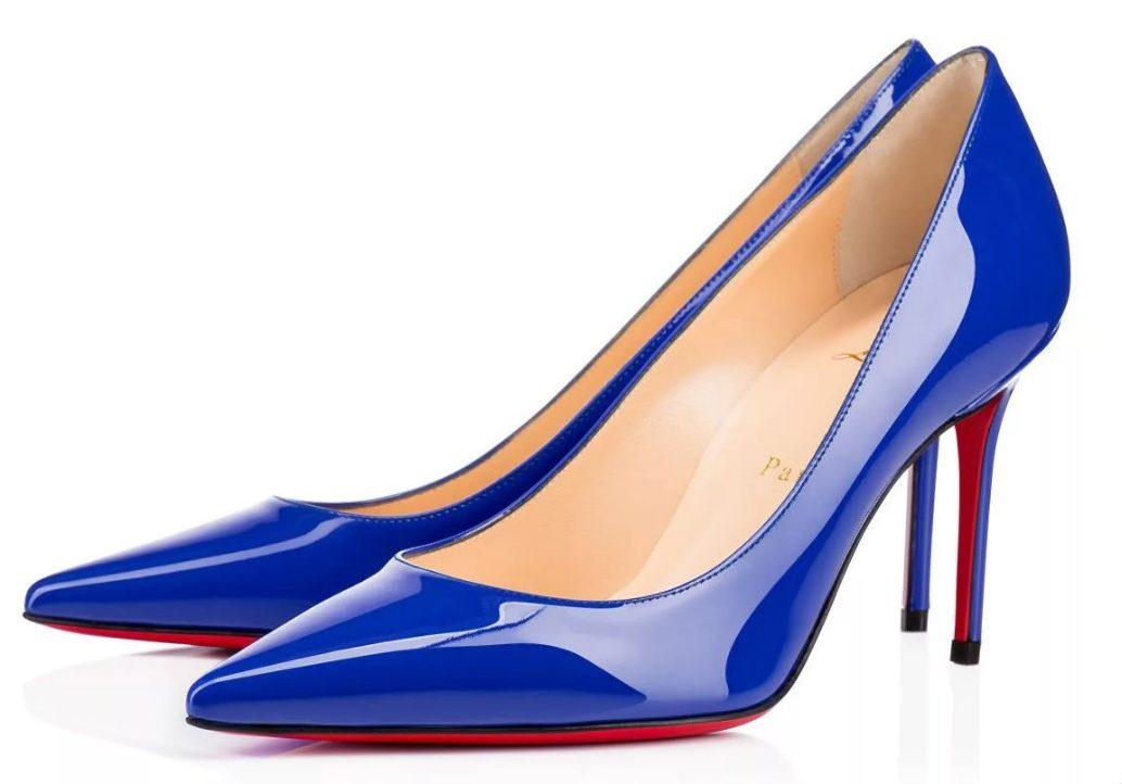 каблуки синие