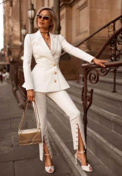 клеш белые брюки