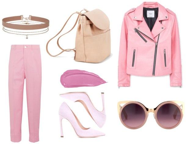 модный розовый гарбероб - вариант 2
