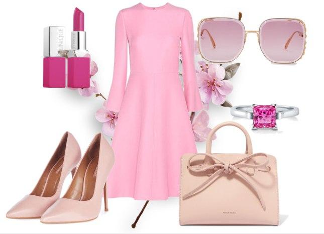 модный розовый гардероб - вариант 1