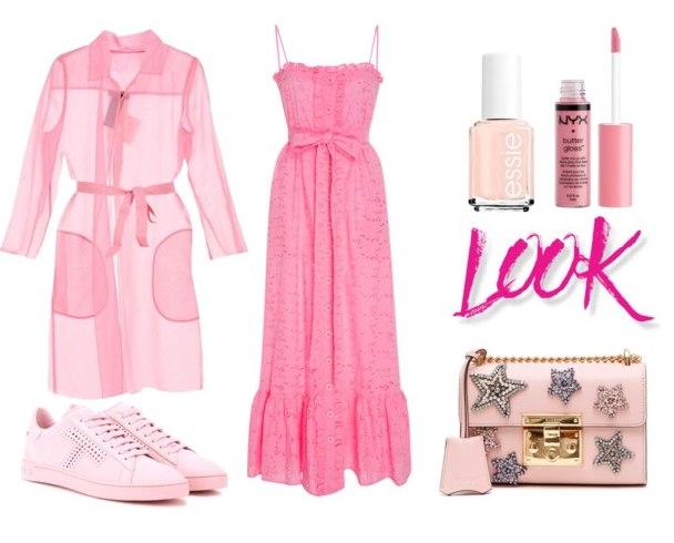 модный розовый гардероб - вариант 3