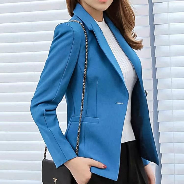 пиджак голубой