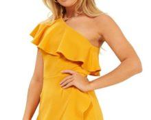 платье желтое 2