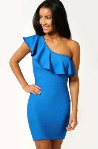платья голубое