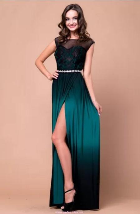 платья зеленое
